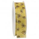 Taffeta ribbon bee width 25mm, length 20m, with se